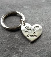 Large charm keyring with Stainless steel split ring